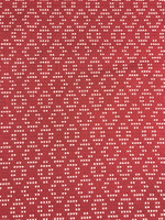 Red/White Diamond Woven Cotton