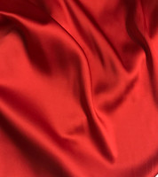 Red Stretch Silk Charmeuse