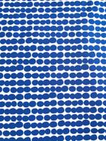 White/Royal Blue Dots Cotton Knit