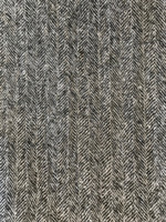 Black/Ivory Herringbone Wool Blend