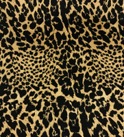 Antique Brass/Black Animal Print Silk Charmeuse