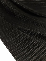 Black Pleated Stretch Velvet