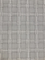 Black/Ivory Glen Plaid Stretch Brushed Cotton