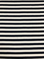 Navy/White Stripe Rayon Jersey Knit