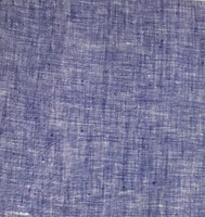 Royal Blue/White Cross Dye Linen
