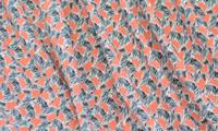Dusty Coral/Zebra Print Rayon Challis