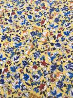 Sundance Yellow Floral Print Viscose Challis