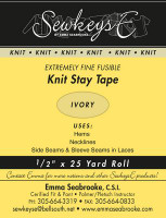 Sewkeys E Extremely Fine Fusible Stay Tape-Ivory