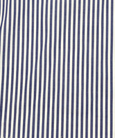 Navy/White Stripe Cotton Shirting