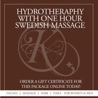Hydrotherapy with One Hour Swedish Massage