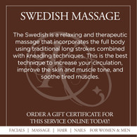 Swedish Massage - One Hour and a Half