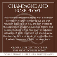 Champagne and Rose Float