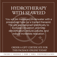 Hydrotherapy with Seaweed