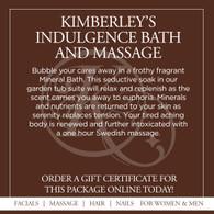 Kimberley's Indulgence Bath and Massage - Seasonal Fragrances
