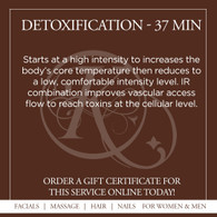 Detoxification Infrared Sauna Treatment - 37 Min.