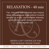 Relaxation Infrared Sauna Treatment - 40 Min