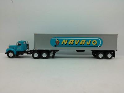 """FG# 60-0445 """"Navajo"""" Mack B-61 Day Cab W/Vintage Dry Van Trailer"""