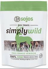 Sojos Simply Wild Venison Treats (2.5 oz.)