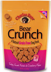 Charlee Bear Grain Free Turkey/Sweet Potato/Cranberry Dog Treats, 8 oz.