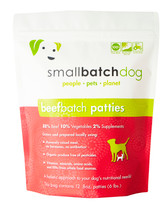 Small Batch Beef Patties for Dogs, 6 lb.