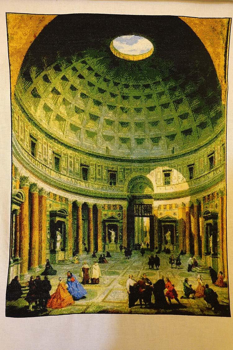 Pantheon Counted Cross Stitch Pattern