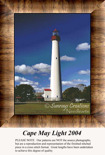 Cape May Light 2004, Lighthouse Counted Cross Stitch Pattern