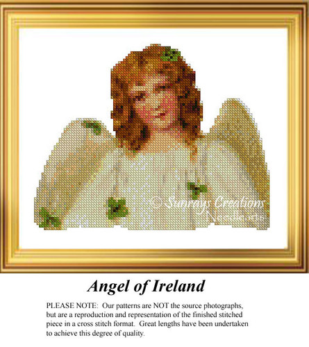 Angel of Ireland Cross Stitch Pattern