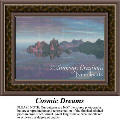 Cosmic Dreams, Fantasy Counted Cross Stitch Pattern
