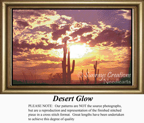 Desert Glow, Skyscapes Counted Cross Stitch Pattern