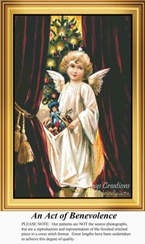An Act of Benevolence, Vintage Counted Cross Stitch Pattern