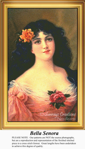 Bella Senora, Vintage Counted Cross Stitch Pattern