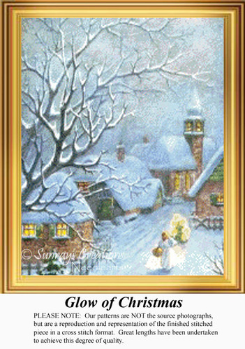 Glow of Christmas, Vintage Counted Cross Stitch Pattern