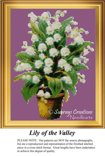 Lily of the Valley, Flower Cross Stitch Pattern