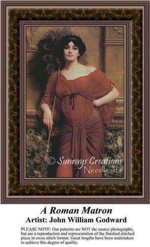 A Roman Matron, Fine Art Counted Cross Stitch Pattern, Women Counted Cross Stitch Pattern