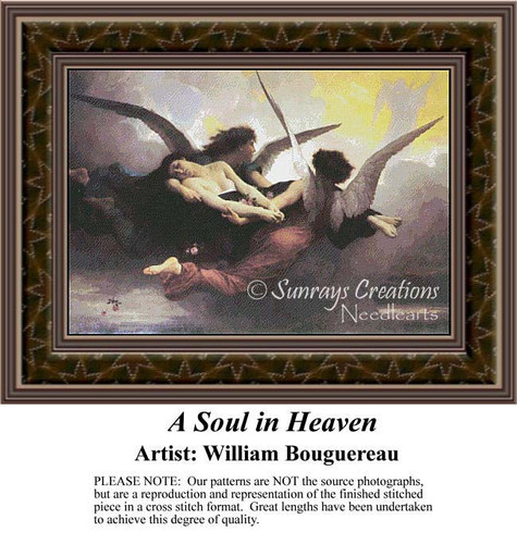A Soul in Heaven, Fine Art Counted Cross Stitch Pattern