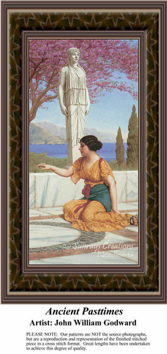 Ancient Pastimes, Fine Art Counted Cross Stitch Pattern, Women Counted Cross Stitch Patterns