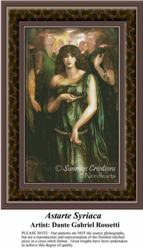 Astarte Syriaca, Fine Art Counted Cross Stitch Pattern, Women Counted Cross Stitch Pattern