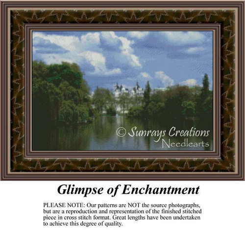 Glimpse of Enchantment, Landscapes Counted Cross Stitch Pattern
