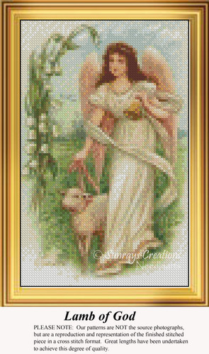 Lamb of God, Easter Miniatures Counted Cross Stitch Pattern