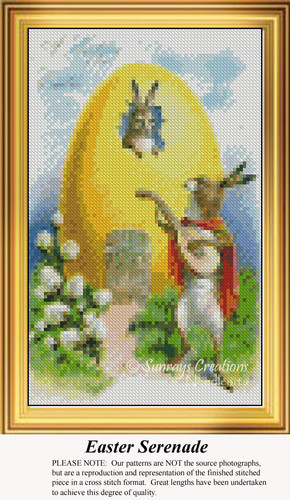 Easter Serenade, Easter Miniatures Counted Cross Stitch Pattern