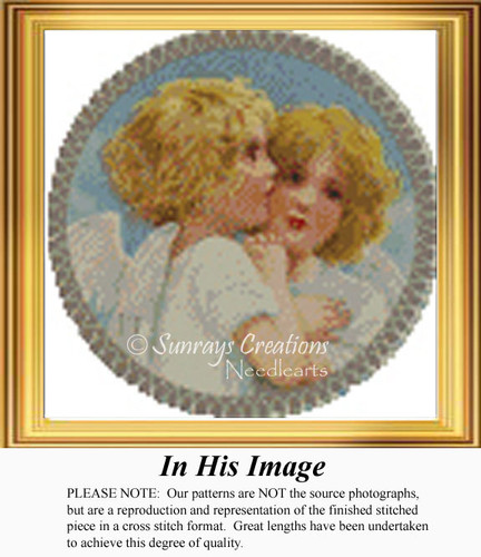 In His Image, Angel Counted Cross Stitch Pattern