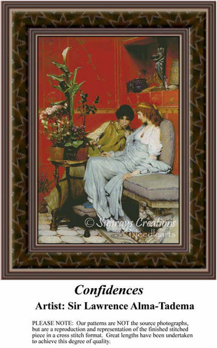 Confidences, Fine Art Counted Cross Stitch Pattern