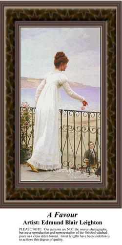 A Favour, Fine Art Counted Cross Stitch Pattern, Women Counted Cross Stitch Pattern
