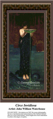 Circe Invidiosa, Fine Art Counted Cross Stitch Pattern, Women Counted Cross Stitch Pattern