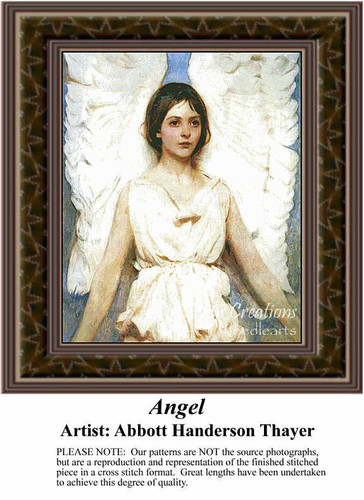 Angel, Angel Counted Cross Stitch Pattern