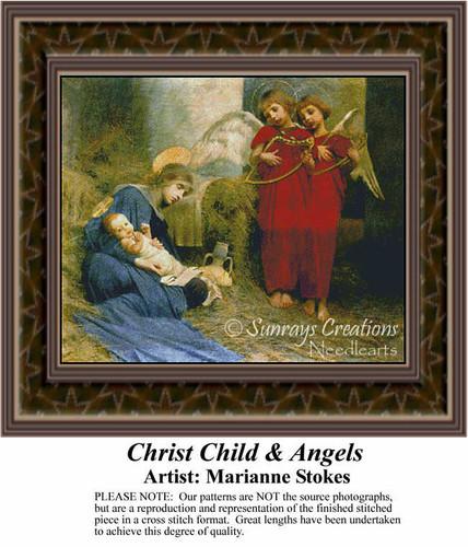 Christmas Angel Cross Stitch Patterns | Christ Child & Angels