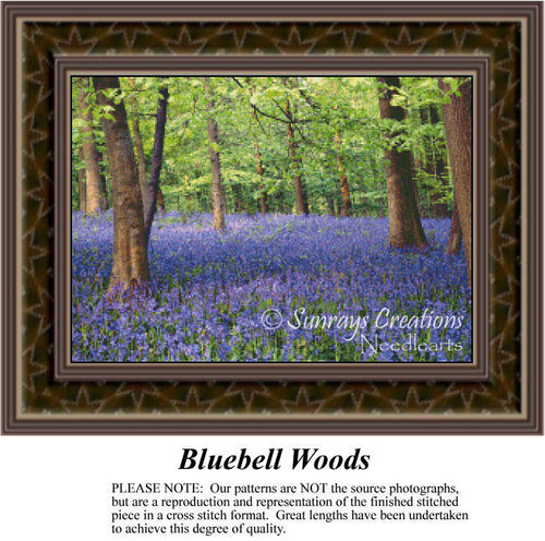Bluebell Woods, Alluring Landscapes Counted Cross Stitch Pattern