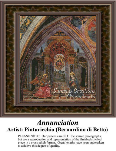 Annunciation, Fine Art Counted Cross Stitch Pattern