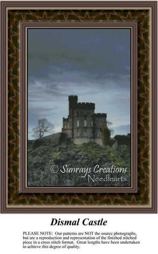 Dismal Castle, Architecture Counted Cross Stitch Pattern