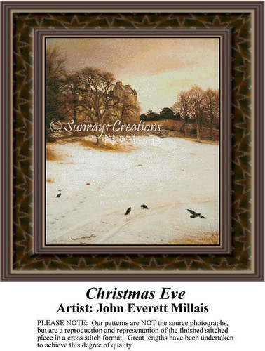 Christmas Eve, Fine Art Counted Cross Stitch Pattern